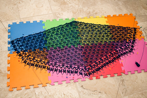 Cadfael Shawl (during blocking)