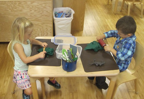 play dough with a friend