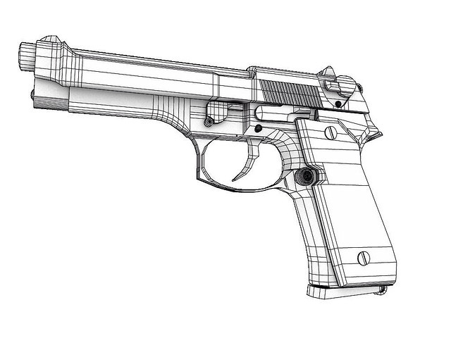 Guns Technical Drawing Line Drawing of Guns | by