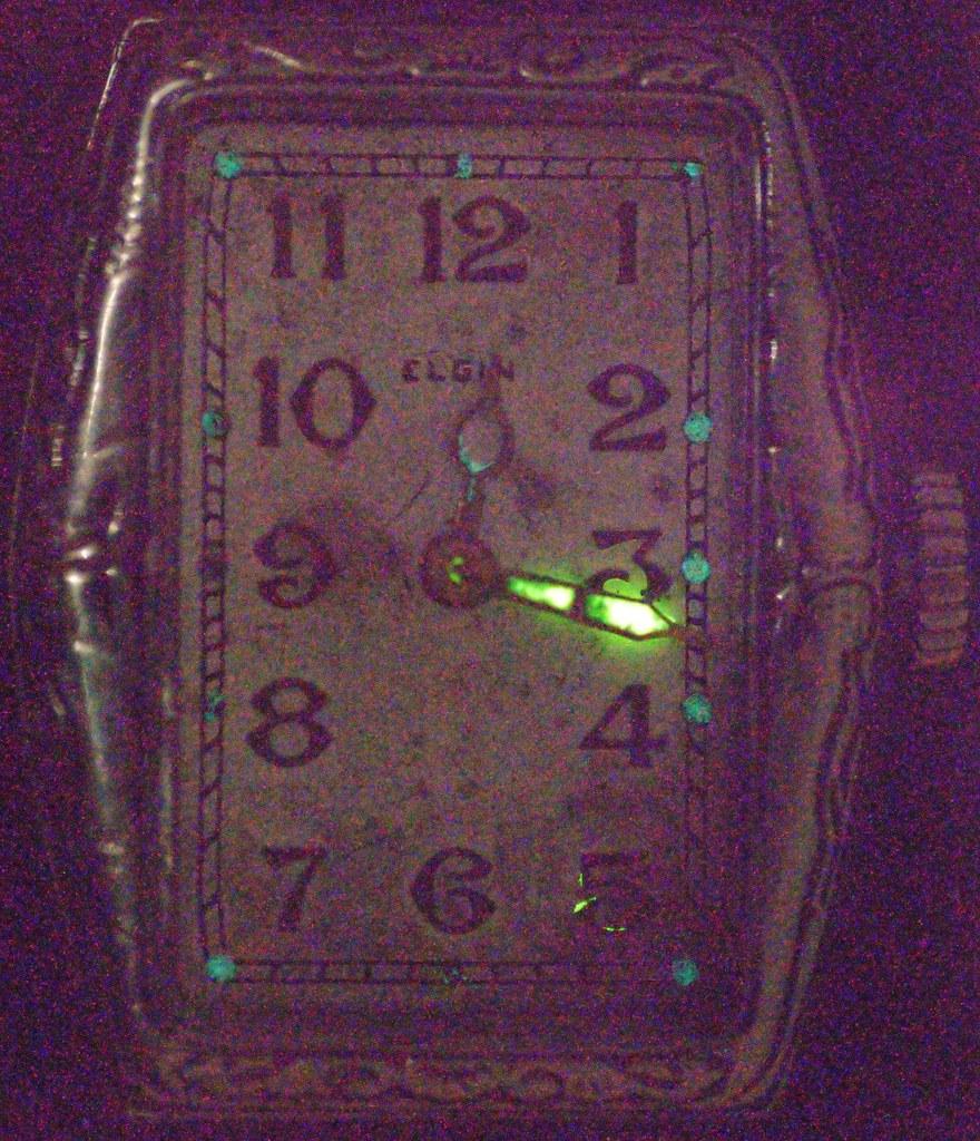 Elgin Mermaid 202 Touchdown Wristwatch Watch Face Radium P