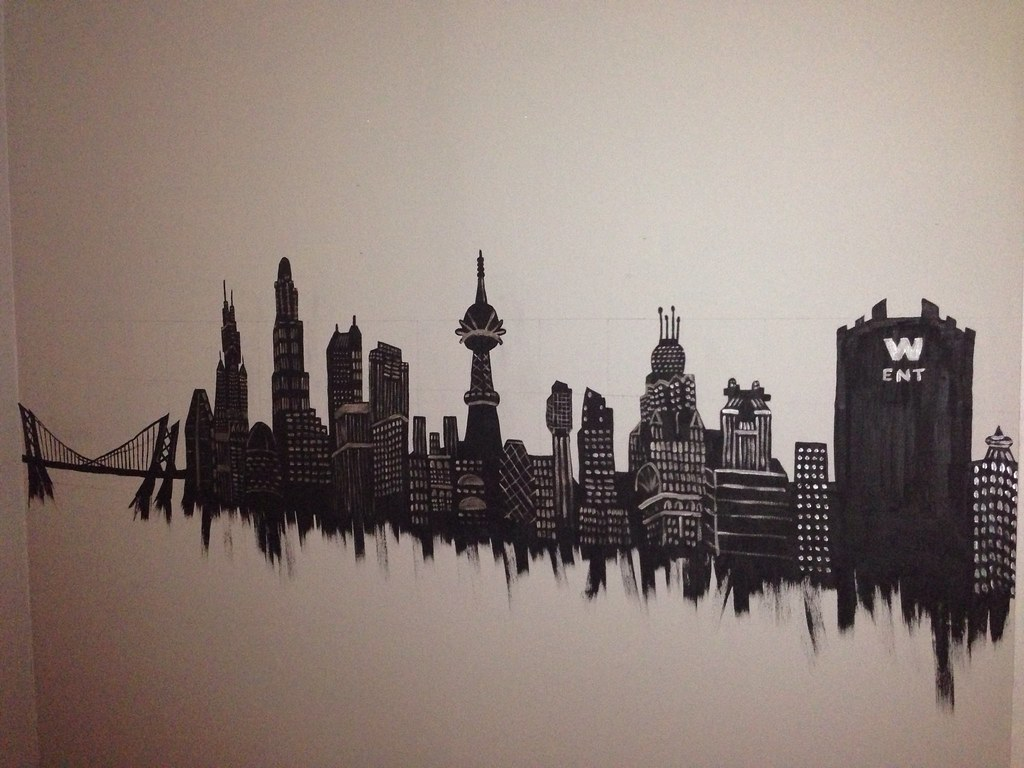 Awesome Gotham City Wall Mural For Baby Conwayu0027s Room | Hand Paintedu2026 | Flickr Part 19
