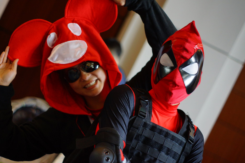 deadmau5 and deadpool cosplay awesome con dc 2013 by stephen little