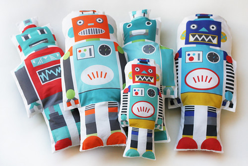 Robot fabric toys | by Katarina Roccella