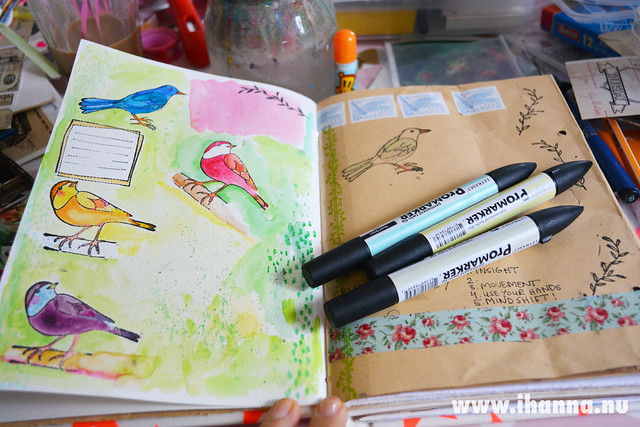 Art Journal Peek: Put a bird on it!