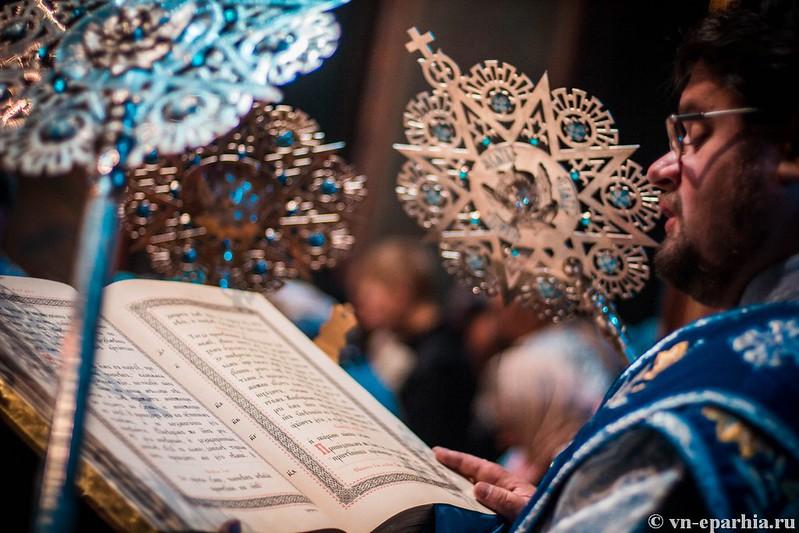 Литургия в Софийском соборе 85