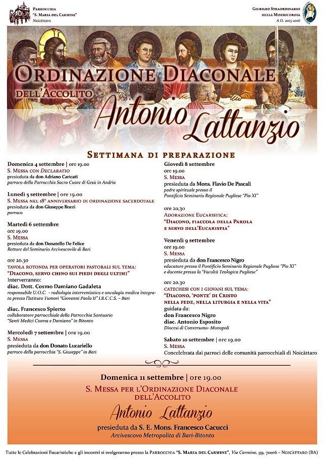 Noicattaro. Ordinazione diaconale Antonio Lattanzio intero