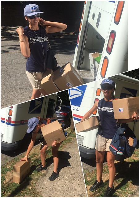 Mail carrier beats heat in tank top