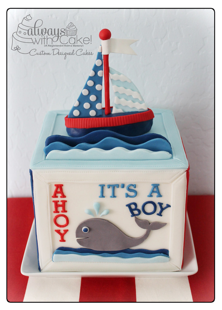 Nautical Baby Shower Cake Always With Cake Flickr
