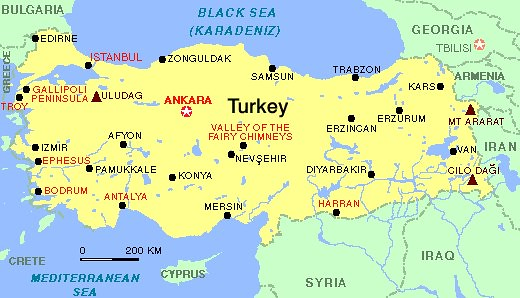 Turkey Natural Resources Geography
