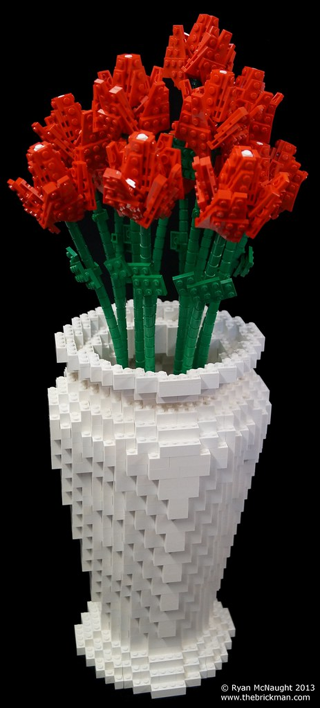 Lego Vase And Flowers Made For The Hosts Of Nztv S