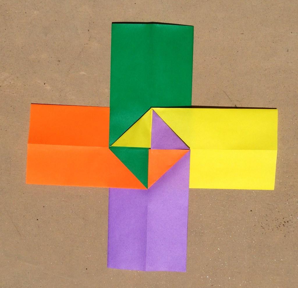 origami square cross module dirk eisner i just figured