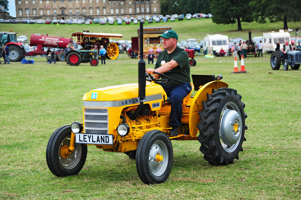 Yellow Leyland 154 Tractor At Nostell Priory Steam Fair