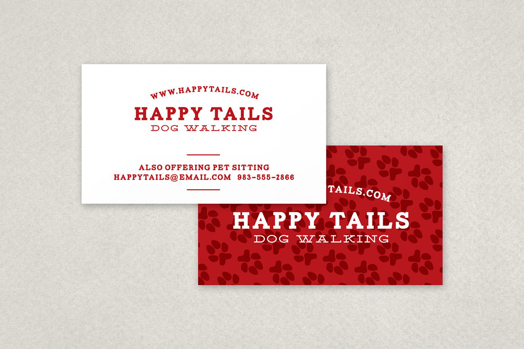 Dog walking business card the cute all over paw print patt flickr dog walking business card by inkdphotos colourmoves
