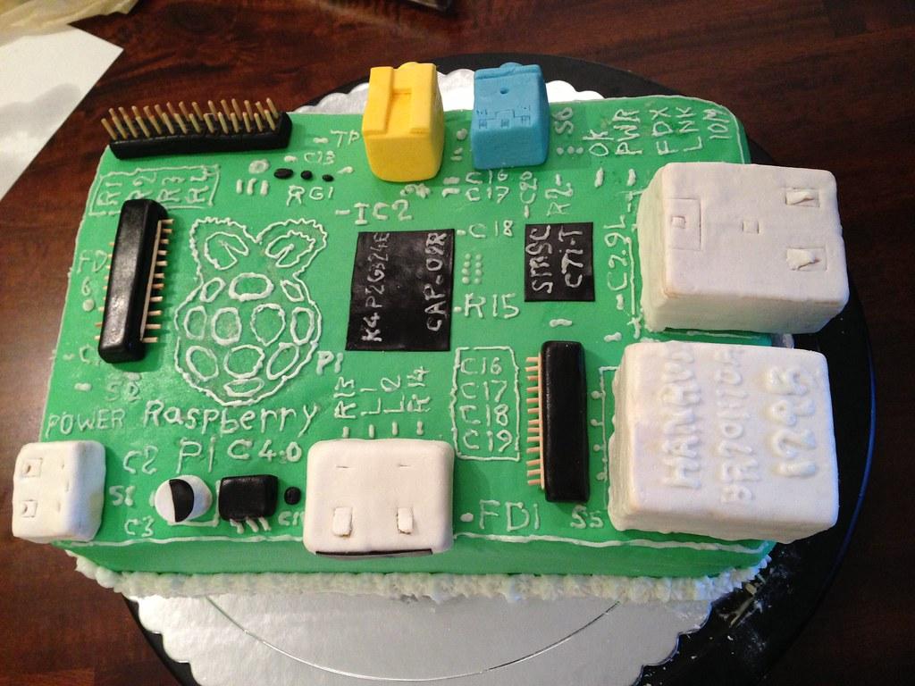 Raspberry Pi Birthday Cake