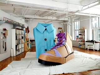 Paper Sculpture Shirt and Shoe | by all things paper