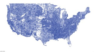 US rivers in the contiguous 48 | by Nelson Minar