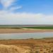 View over the river Amu Darya from Uzbekistan towards Turkmenistan