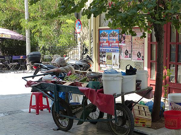 vendeur de figues à Psiri