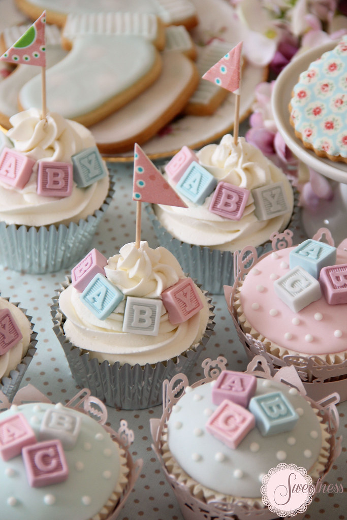 Alphabet Block Baby Shower Cake