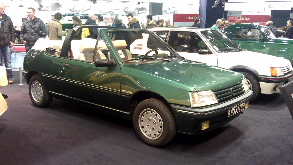 peugeot 205 cabriolet roland garros 4453 vx 92 r tromob flickr. Black Bedroom Furniture Sets. Home Design Ideas