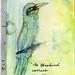 blue bird mail art