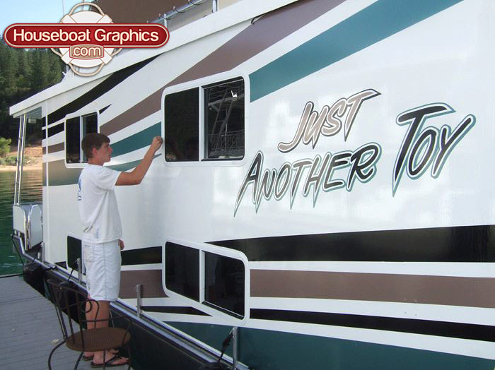 Graphics For Vinyl Houseboat Graphics Wwwgraphicsbuzzcom - Custom houseboat vinyl numbers