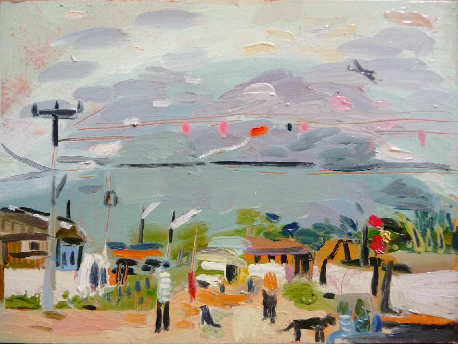 May Day, Pedra Branca: children, dogs, kites   by tadeusz deręgowski