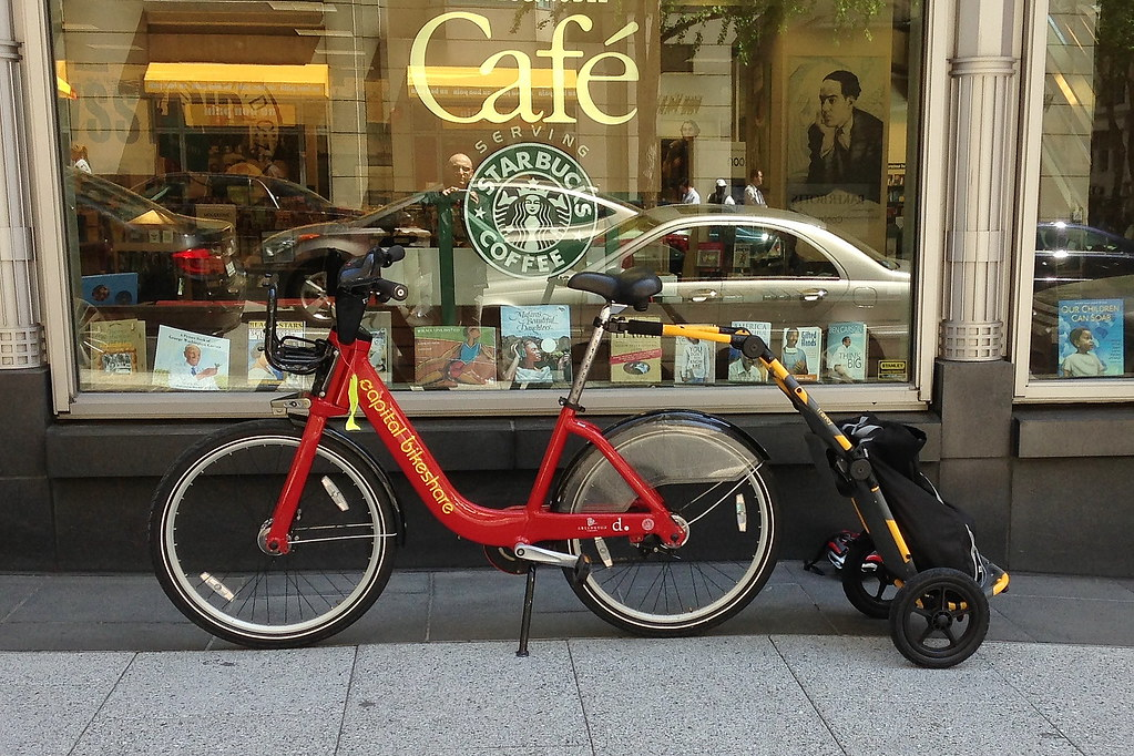 Cabi Bike With Trailer Capital Bikeshare Bicycle With Bur Flickr