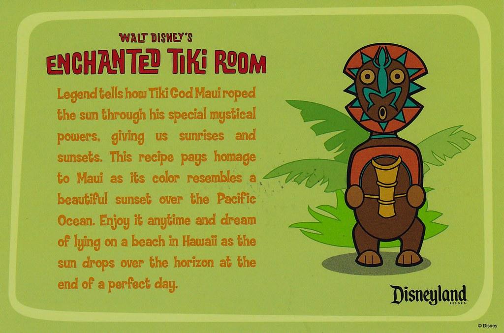 Disneyland Enchanted Tiki Room Dole Drink Recipe Card Flickr