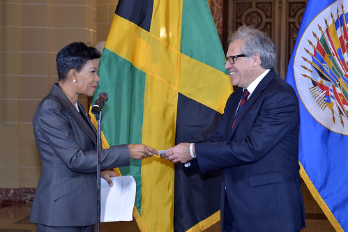 New Representative of Jamaica Presents Credentials to OAS Secretary General