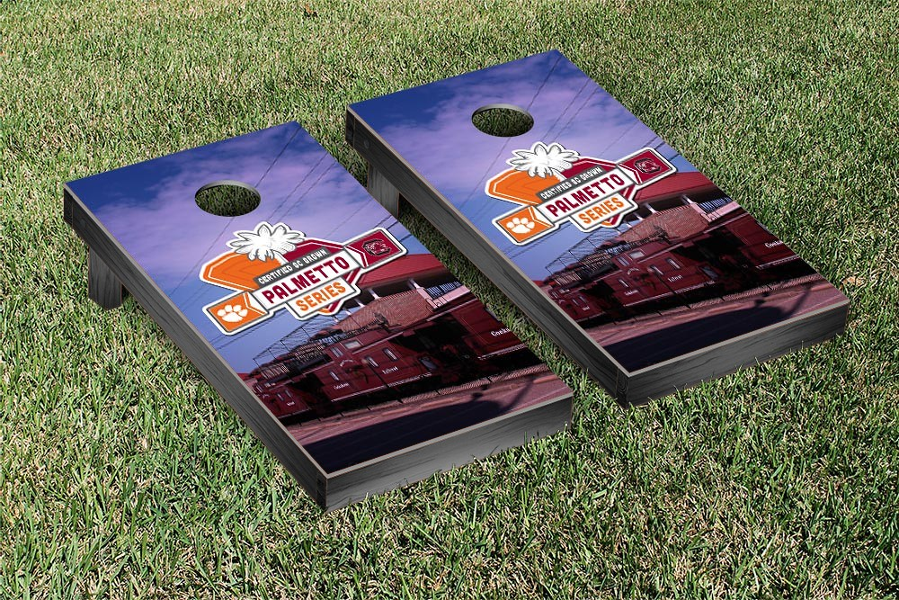 Clemson Tigers Cornhole Game Palmetto Series Rivalry Version