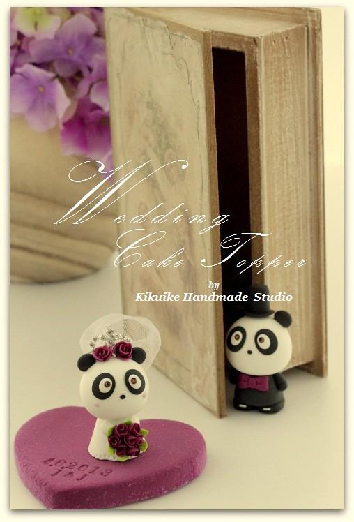 Panda wedding cake topper   www.etsy.com/listing/48619978/ha…   Flickr