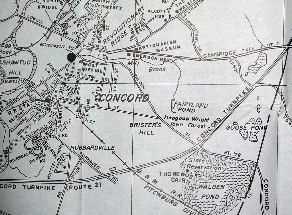 Concord MA 1951 Map by Interstate Publishing Company Wald Flickr