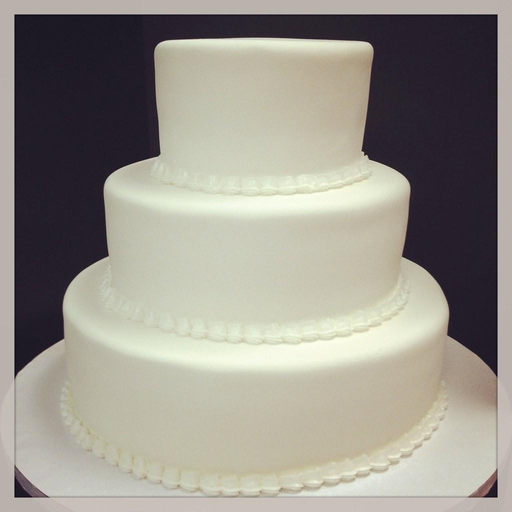 Simple White wedding cake Jenna Jones Flickr