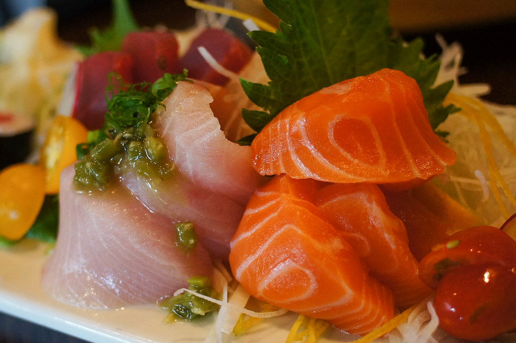 Tasty Colors Yellowtail And Salmon Sashimi By Po Cho Sus