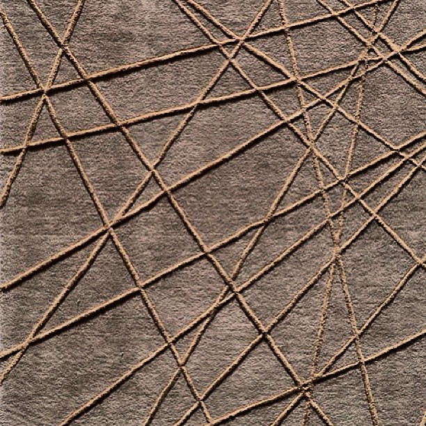 Add Texture With This Brown Rug With Raised Lines New