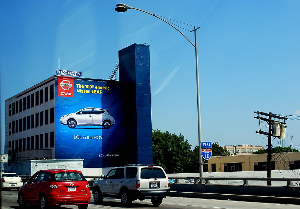 Perfect ... Nissan Leaf Building Billboard, Downtown Los Angeles | By  JoeInSouthernCA