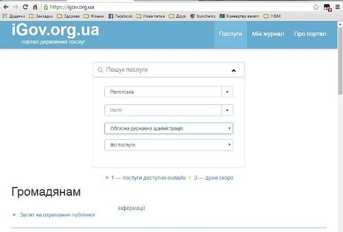 Рівненська ОДА надає он-лайн послуги