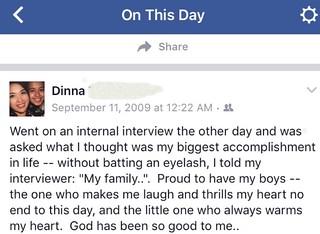 Those Facebook memories