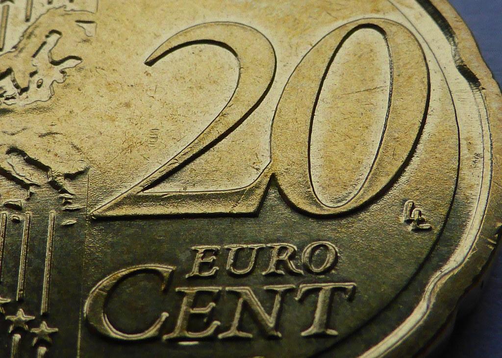 Super Macro Makro Zoom 20 Euro Cent Münze Macro Mit Inte Flickr