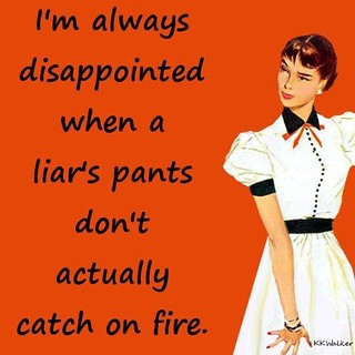 Always disappointed when a liar's pants don't actually catch fire | by kosnonand