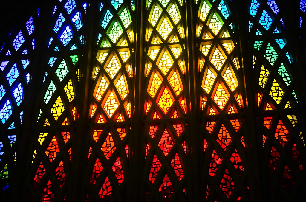 Stained Glass Window At Interfaith Center at University of Rochester