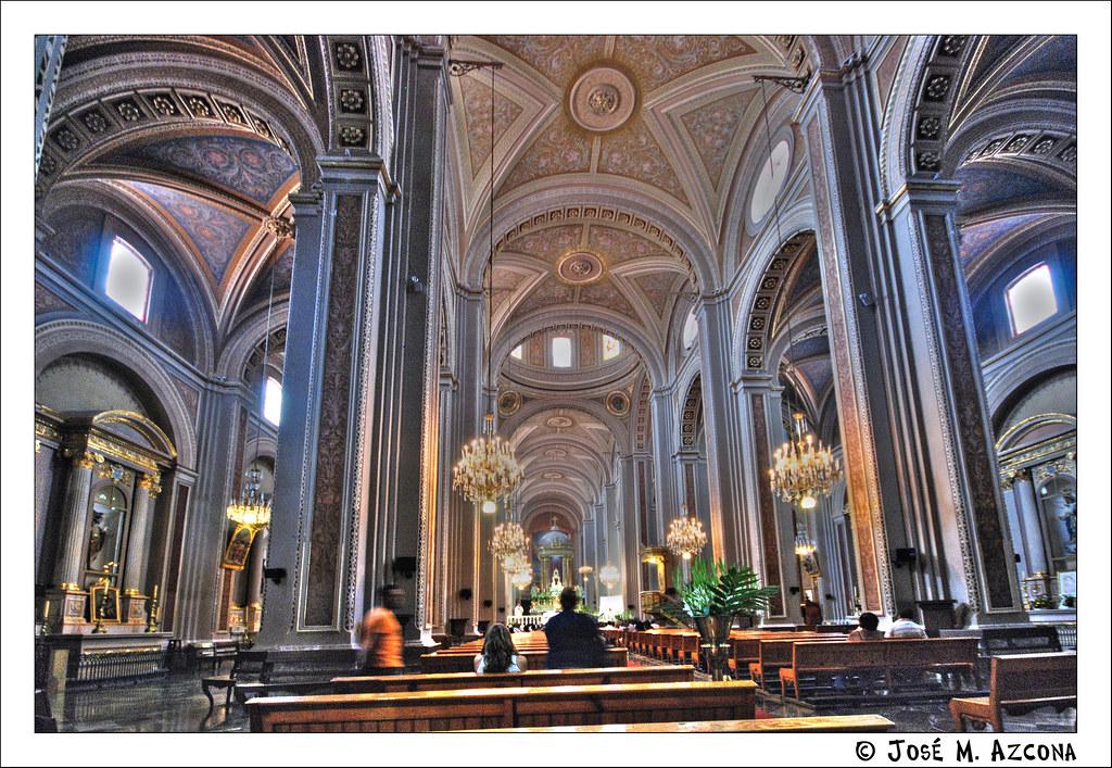 M xico morelia estado de michoacan catedral interior for Catedral de zamora interior