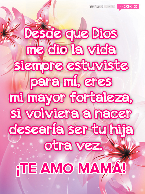 mensaje de una madre a su hija