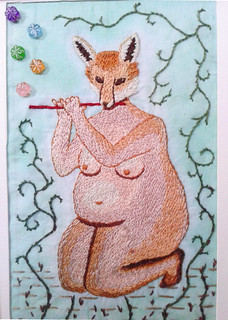 Foxy lady playing five notes | by SisterTwisty