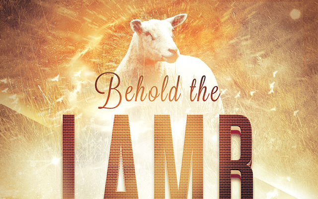 Behold the Lamb Church Flyer Template | The Behold the ...
