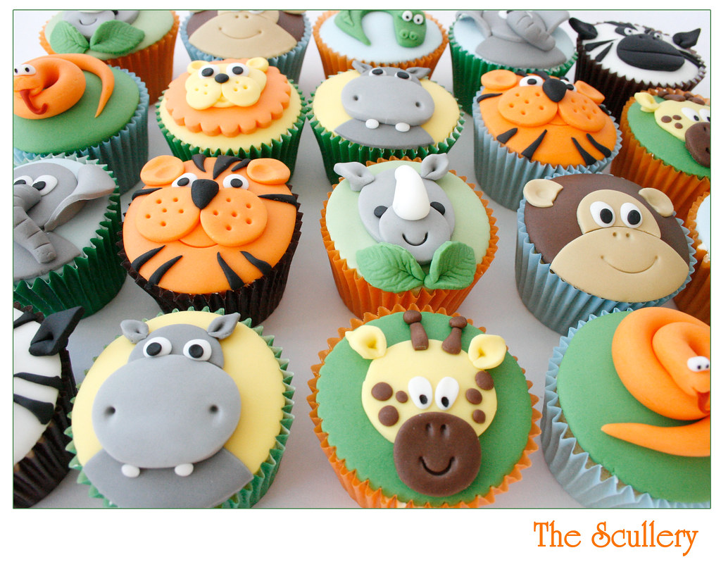 Animal Cupcakes The Scullery Louise Flickr