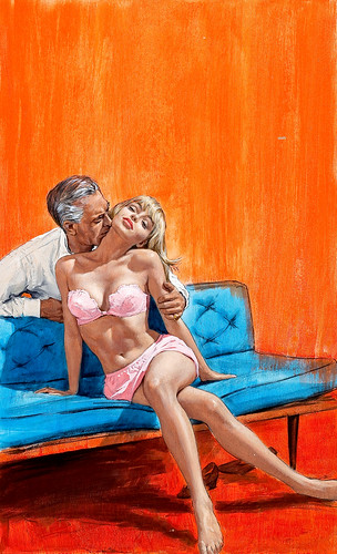 The Boss' Couch, paperback cover, 1968 by Paul Rader | by Tom Simpson