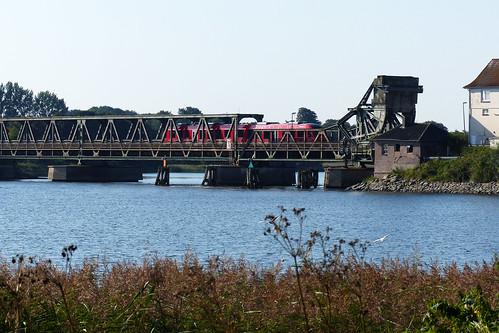 Schlei-Brücke Lindaunis ... Klappbrücke ... Fotos: Brigitte Stolle, September 2016
