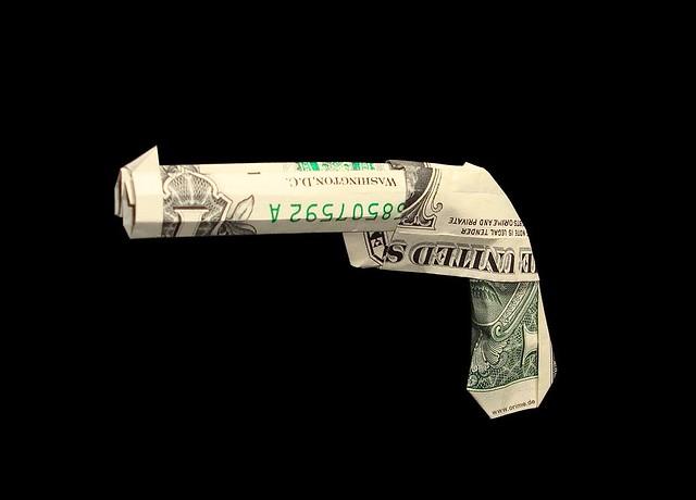 Origami money gun | Flickr - Photo Sharing!